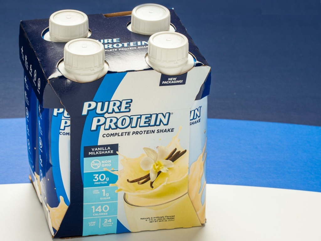 4-pack of vanilla protein shakes