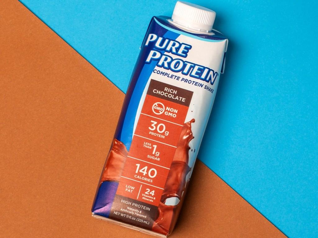one chocolate protein shake