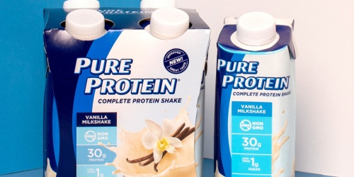 Pure Protein Shakes 4-Pack Only $4.89 Shipped on Amazon | Just $1.22 Per Shake