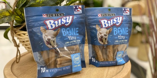 Purina Dog Treats Coupon = Busy Bones Just $1.35 Each at Target