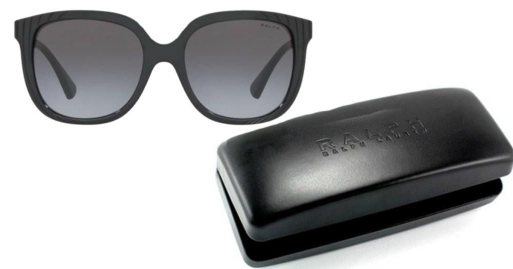 Ralph Lauren Black Butterfly Sunglasses with case