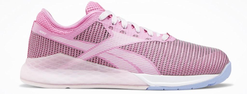 pink girls mesh running shoe