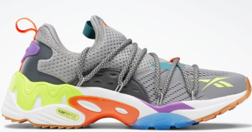reebok colorful running shoes