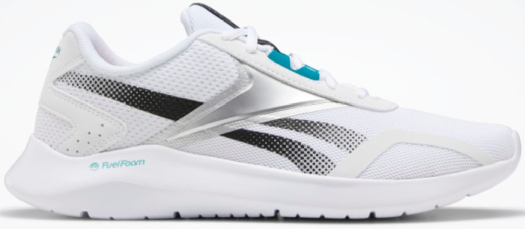 grey, white and teal reebok women's running shoes