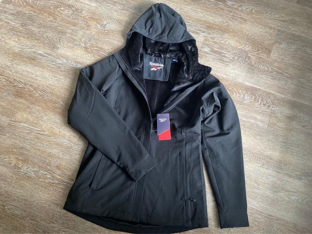 women's black fur lined jacket
