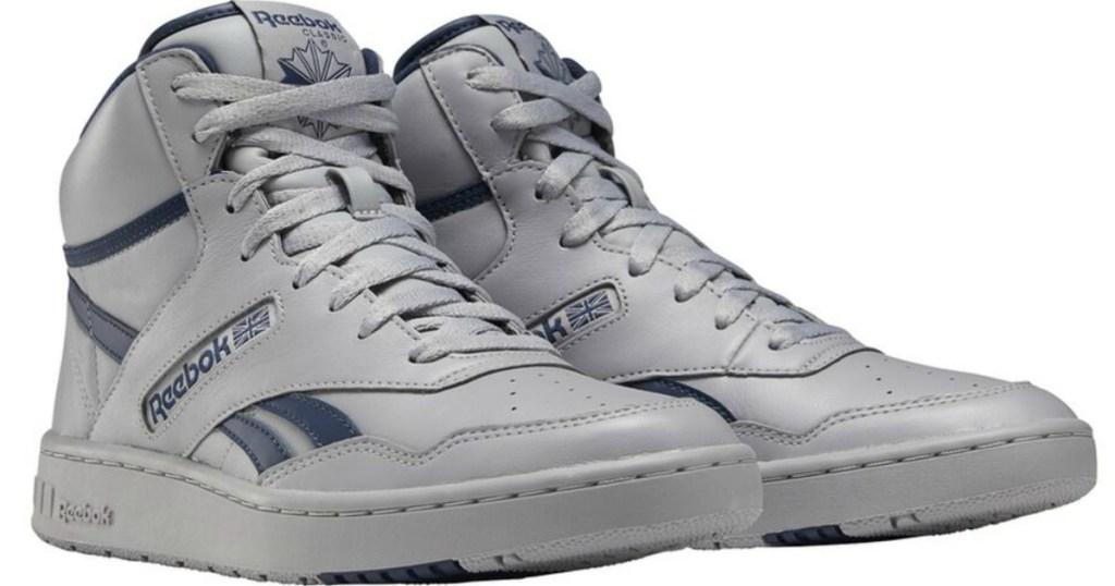pair of Reebok basketball shoes