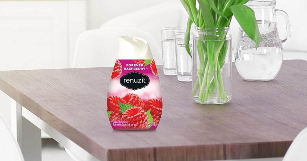 renuzit air freshener on table