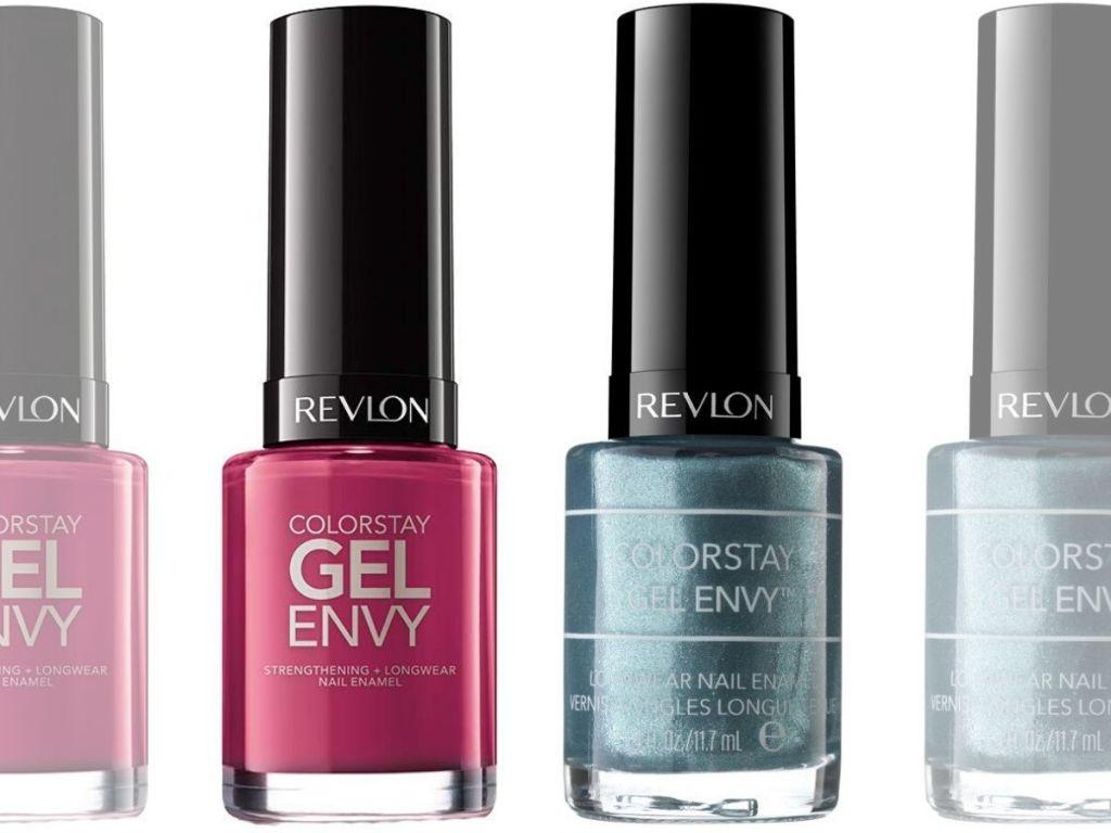 four bottles of nail polish