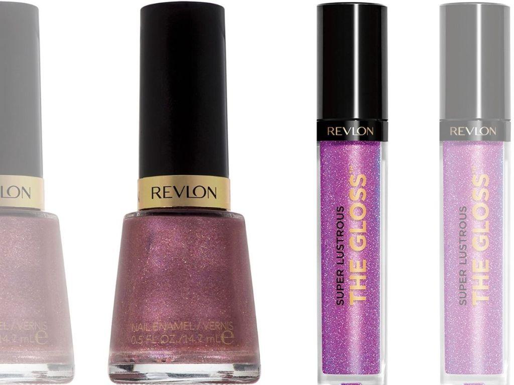 nail polish and lip gloss