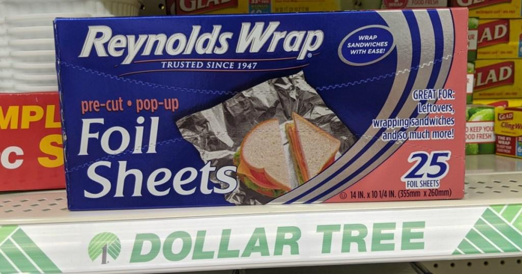 Reynolds Wrap on shelf at Dollar Tree