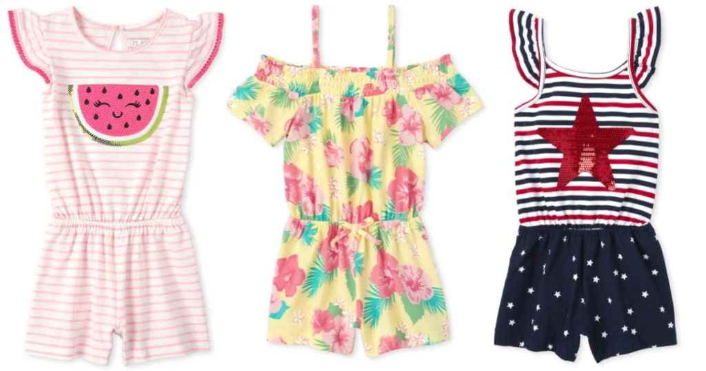 The Children's Place Girls Rompers from $3.99 Shipped (Regularly $16+) -  Hip2Save