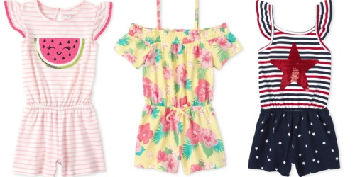 The Children's Place Girls Rompers from $3.99 Shipped (Regularly $16+)