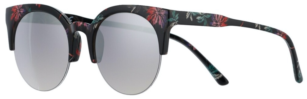women's mirrored black floral sunglasses