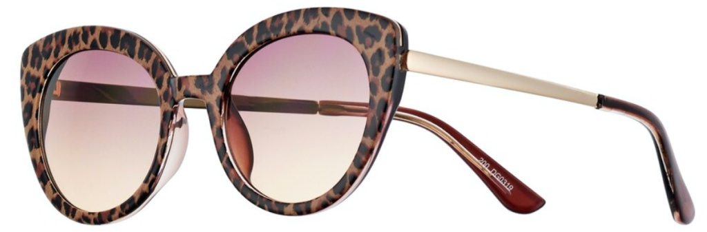 women's leopard print cat eye sunglasses