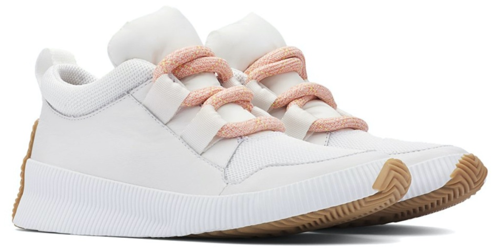 women's white and light pink sneakers