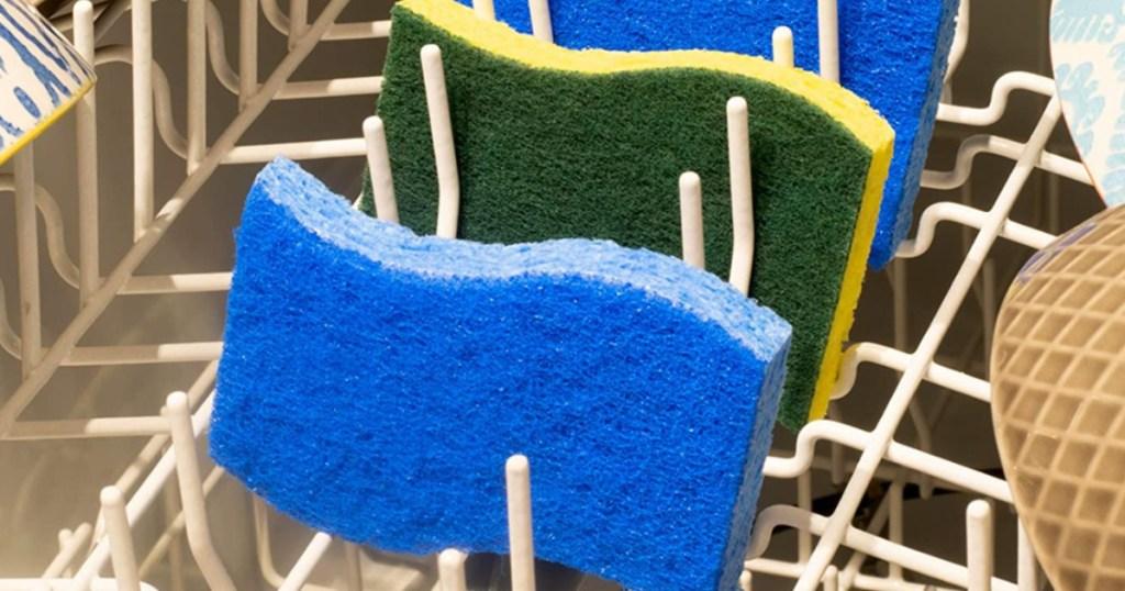 three sponges in dishwasher