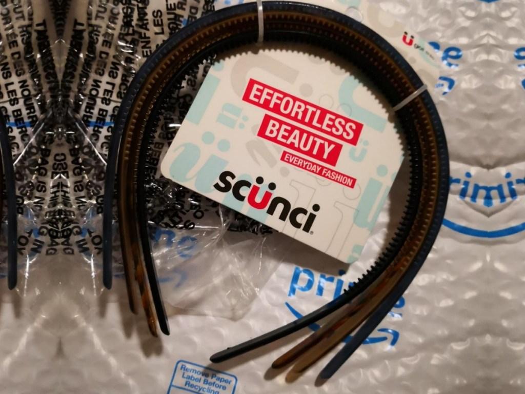 Scunci Headbands on Amazon packaging