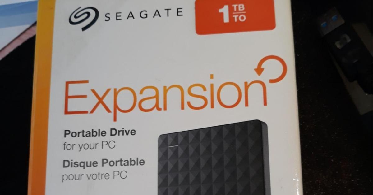 Seagate expansion portable drive box