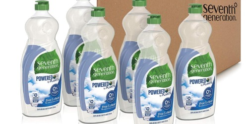 Seventh Generation Dish Liquid 6-Pack Only $13.66 Shipped on Amazon