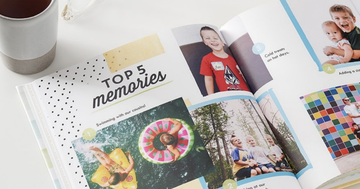 Shutterfly Photo Book open on table
