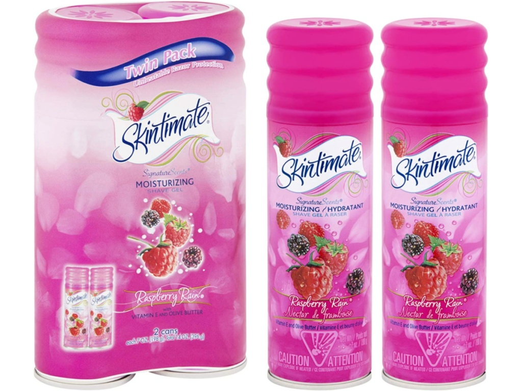 Skintimate Raspberry Rain 7-Ounce Twin Pack Shave Gels