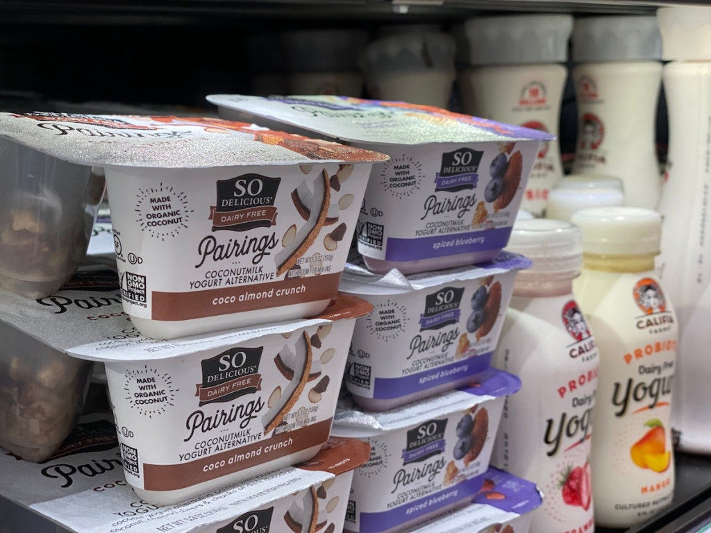 So Delicious Pairings Yogurt in cooler at Target
