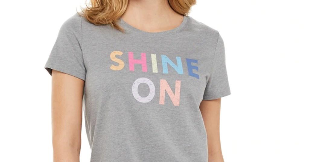 Sonoma Goods for Life Shine On women's tee