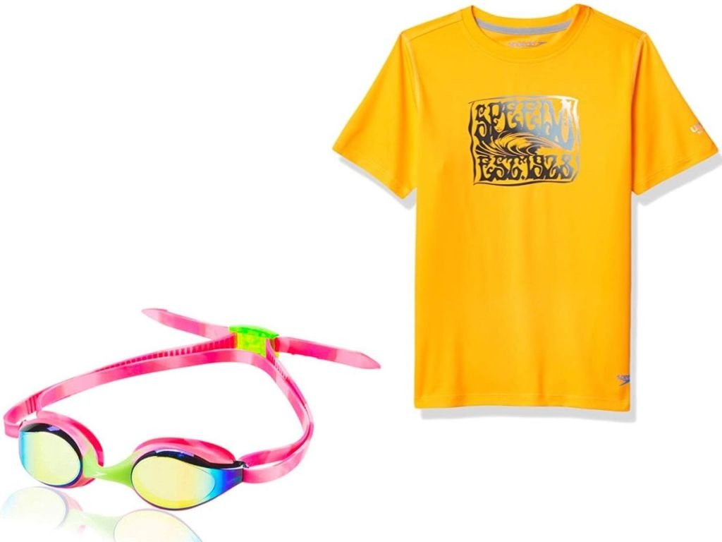 goggles and a t-shirt