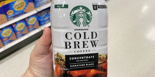 New $2 Starbucks Coupon = Cold Brew Just $3.49 at Target After Cash Back (Regularly $8)