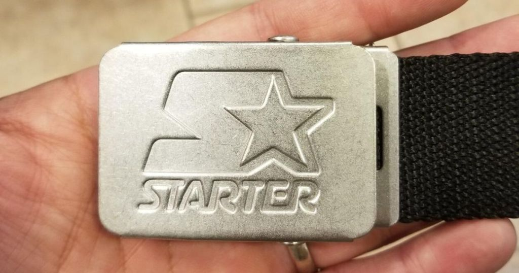 Starter belt with metal buckle