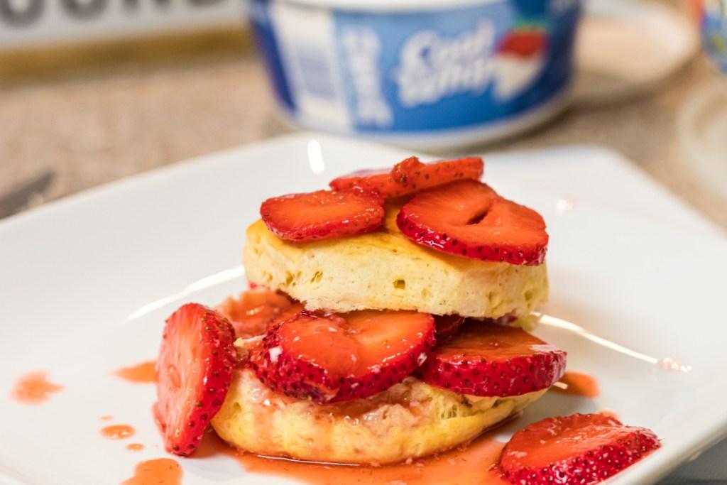 biscuit with strawberry glaze