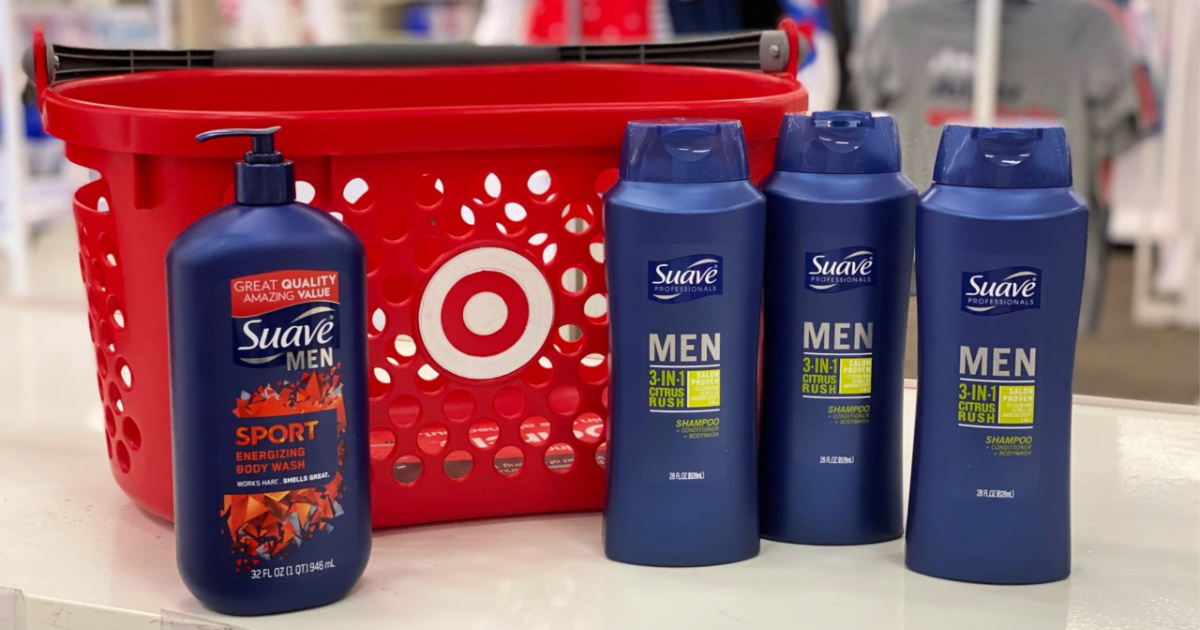 Suave Men's personal care with Target basket
