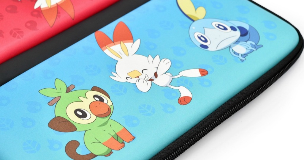 Nintendo Switch case with Pokemon on the front