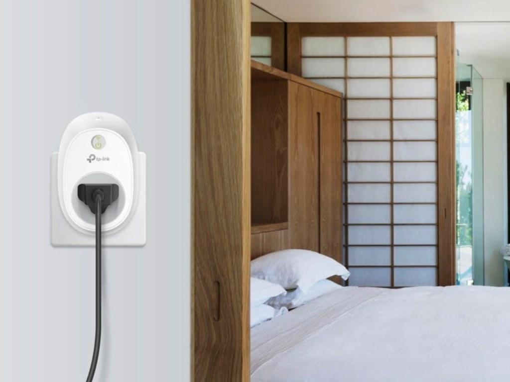 smart plug in outlet near bedroom