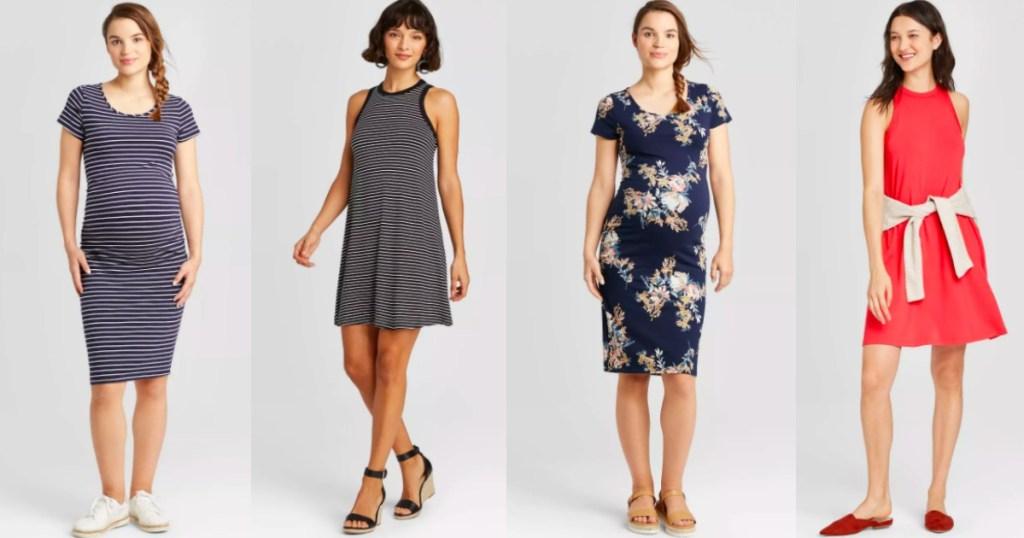 four women wearing Target dresses