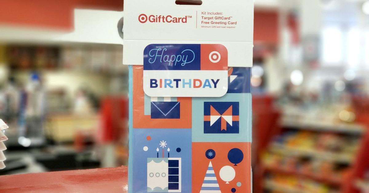 Birthday themed gift card