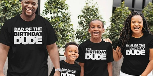 The Children's Place Matching Family Birthday Tees from $2.99 Shipped