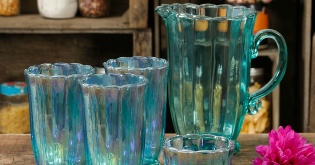 The Pioneer Woman Pitcher Set in Teal
