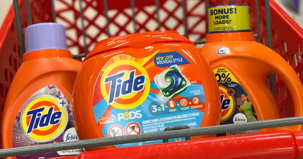 Tide Laundry Detergent & Pods in Red shopping cart