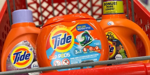 Free $15 Target Gift Card w/ $50+ Household Essentials Purchase | Save on Cottonelle, Tide & More