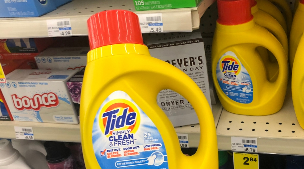 bottle of Tide simply clean