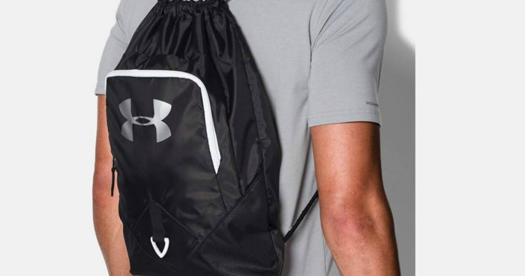 man wearing UA Under Armour Undeniable Backpack