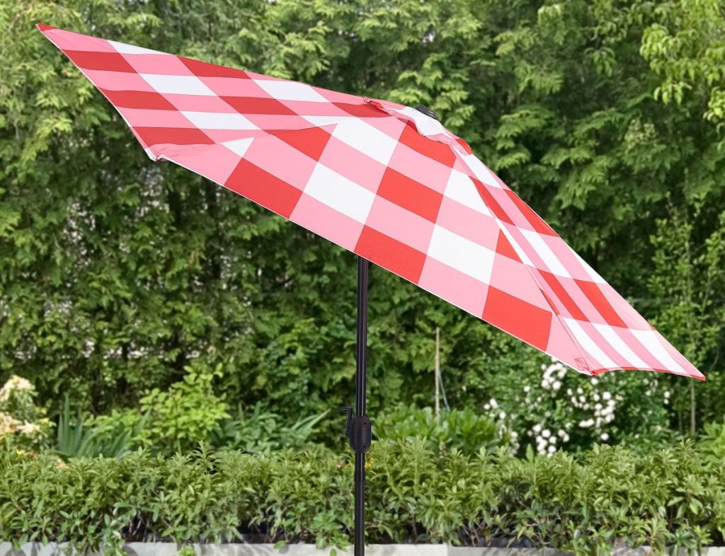 gingham umbrella top