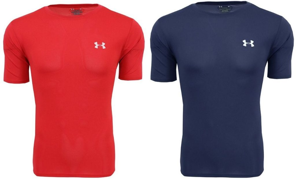 two men's performance shirts