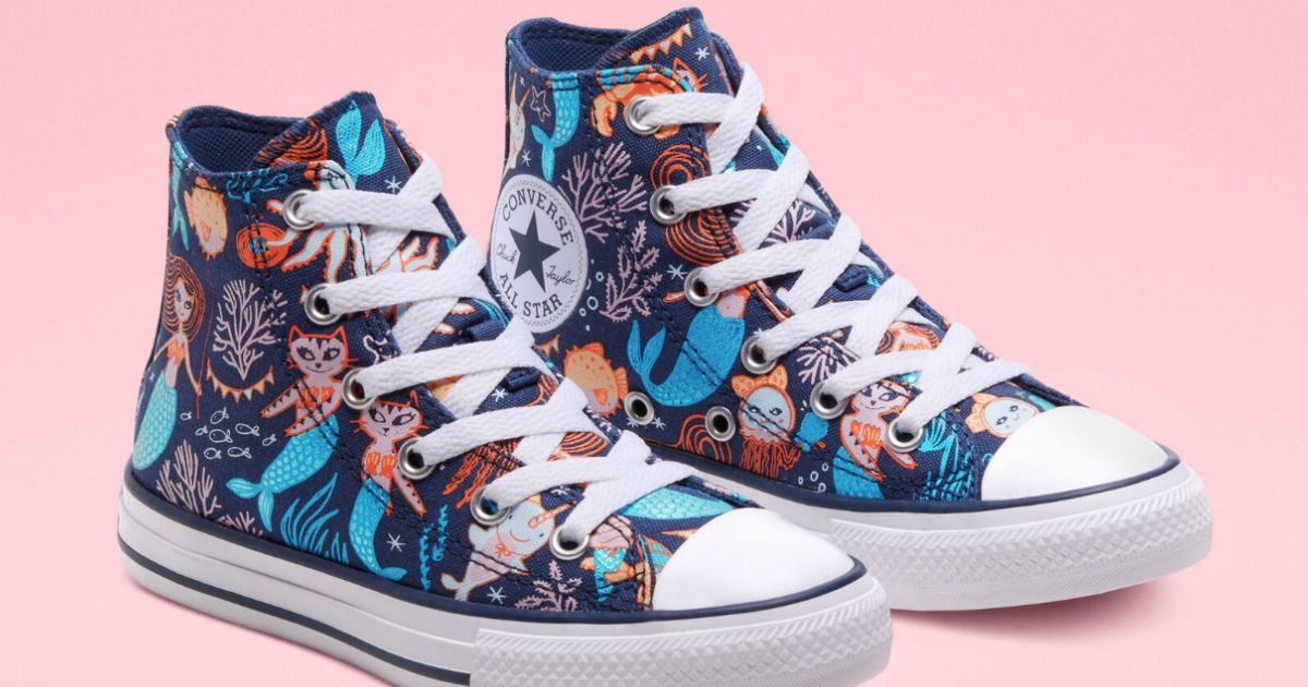 pair of kids high top sneakers with unicorns