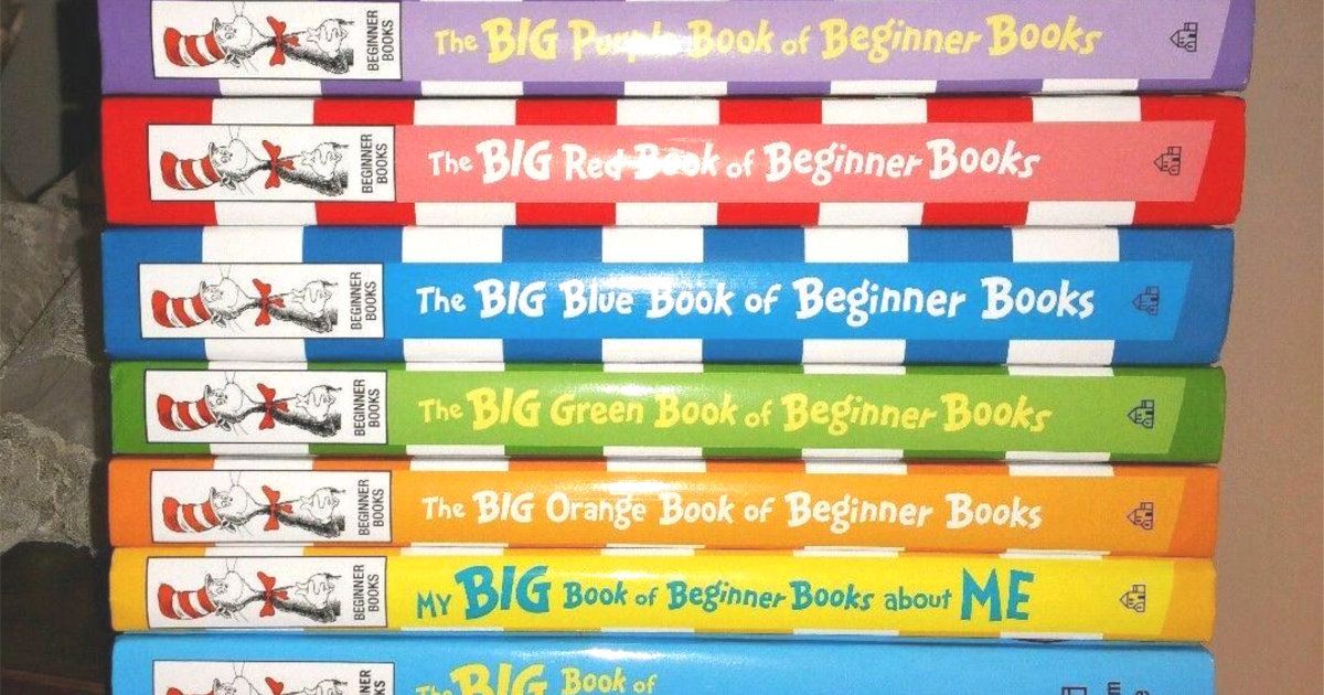 dr seuss the big green book of beginner books stacked
