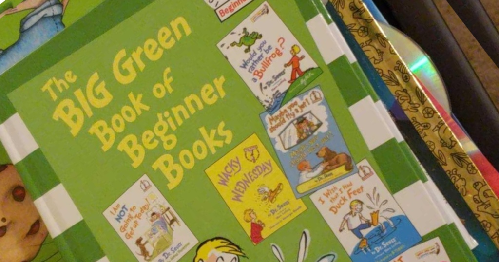 dr seuss the big green book stacked