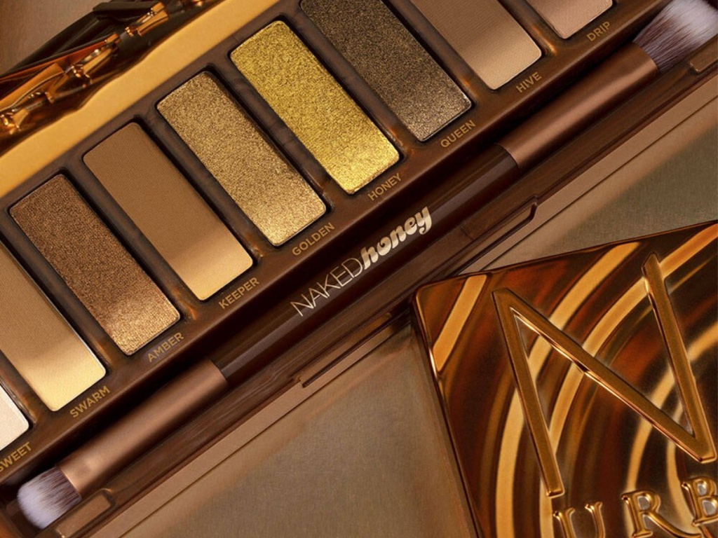 yellow, gold, and brown eyeshadow palette