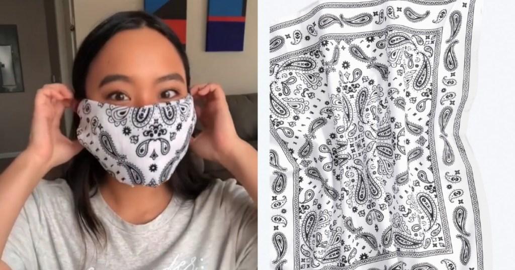 white victoria's secret bandana