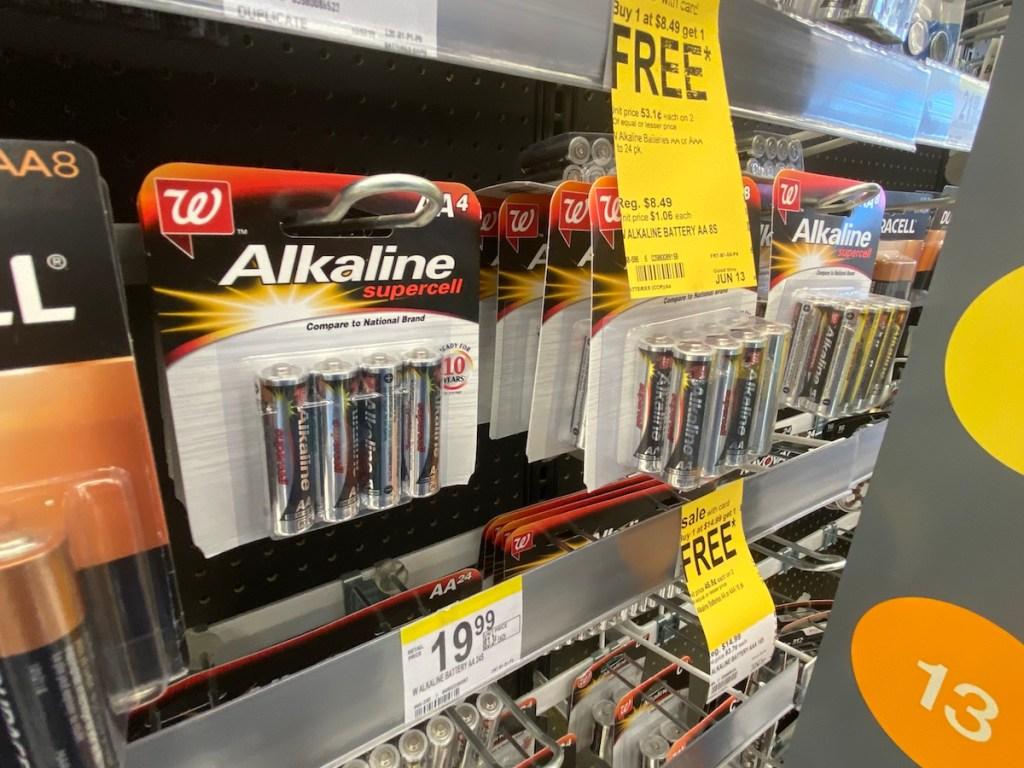 batteries at Walgreens